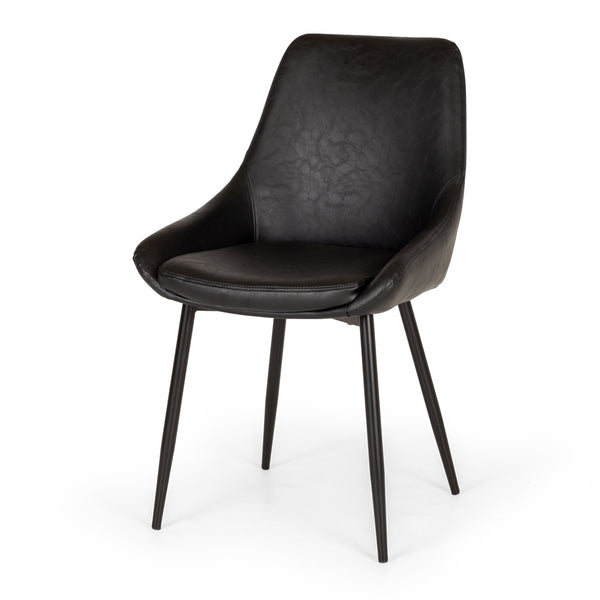 BARI DINING CHAIR | BLACK PU