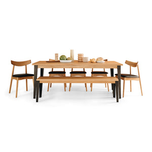 KAREL SOLID OAK DINING TABLE