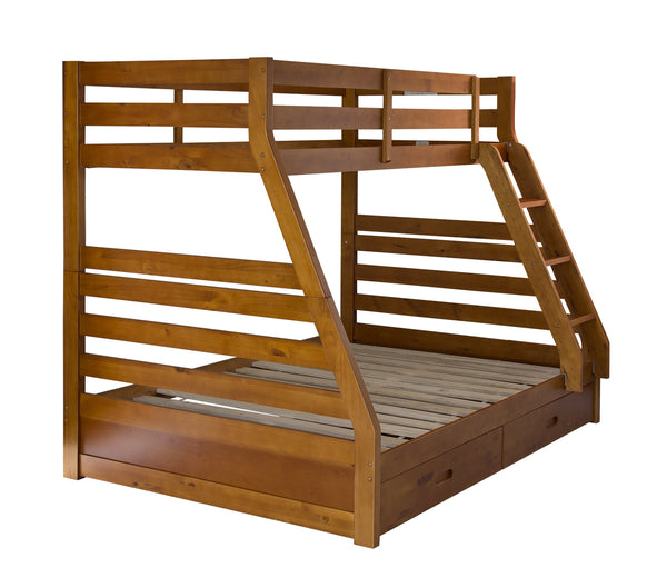 WANAKA BUNK BED - LIGHT WALNUT OR WHITE PAINTED