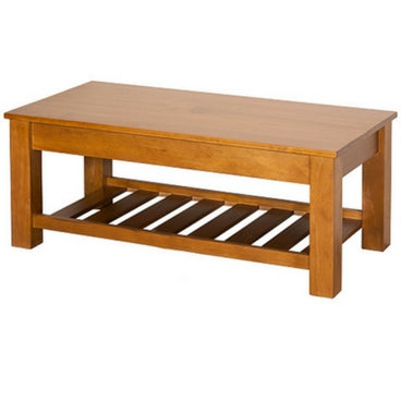 CHARLTON COFFEE TABLE WITH RACK | NZ MADE