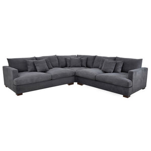 CRESCENT CORNER LOUNGE SUITE - AVAILABLE IN 4 COLOURS