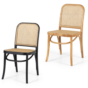 HOFFMANN OAK CHAIR RATTAN SEAT