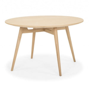 LINEA ROUND DINING TABLE | NATURAL OAK