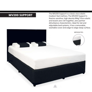 VISCO MV200 SUPPORT MATTRESS FOR ADJUSTABLE BEDS OR SLAT BASES