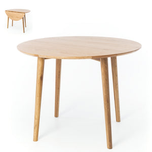 NORDIK ROUND DROP LEAF DINING TABLE