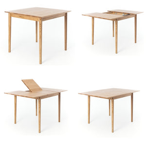 NORDIK SMALL 90 - 130  EXTENDING DINING TABLE