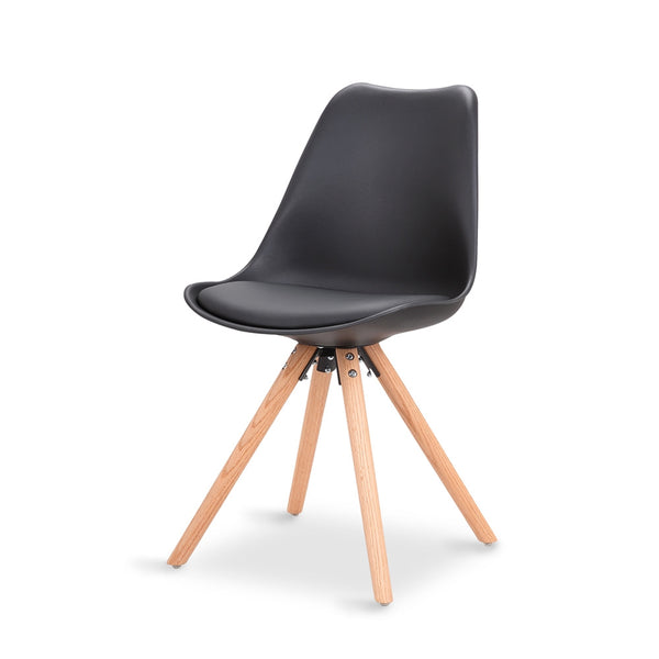 ORBIT DINING CHAIR - BLACK, WHITE & GREY