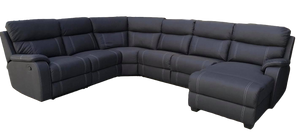 PORTER CORNER MODULAR WITH SOFA BED, END RECLINER & CHAISE