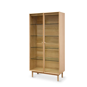 ROTTERDAM OAK DISPLAY CABINET