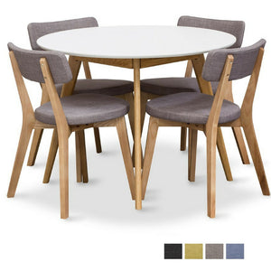 RADIUS ROUND DINING SUITE INCLUDING 4 PREGO CHAIRS
