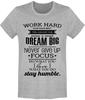 T-shirt DREAM BIG TBRC