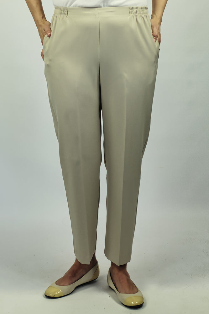 Petite Fit Pants - Beige - Shorter Leg