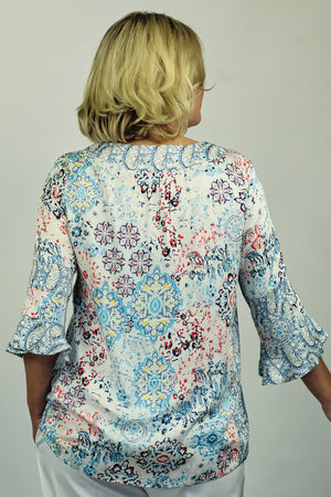 Load image into Gallery viewer, Frill Sleeve Kaftan Style Top