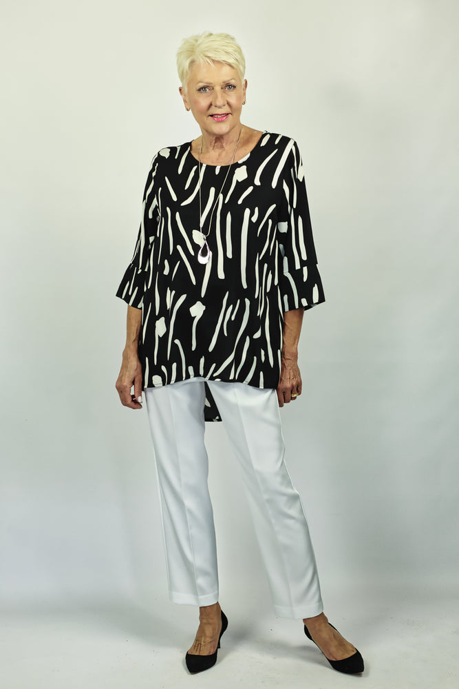 Load image into Gallery viewer, Brushstroke Print Tunic