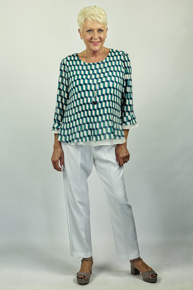 Pleated Layer Top