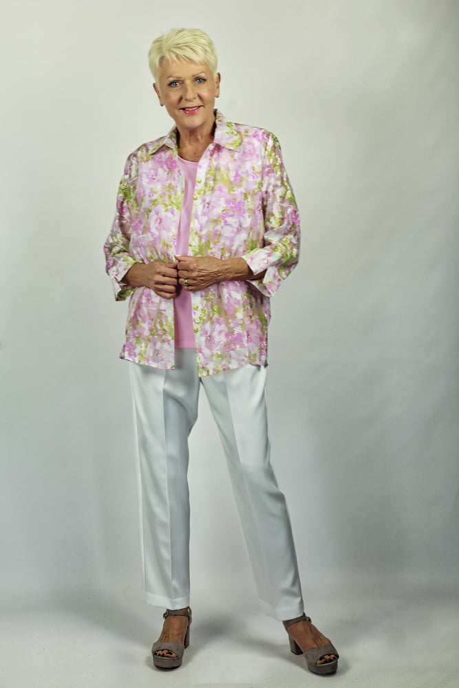 Sheer Floral Shirt - Rhonda