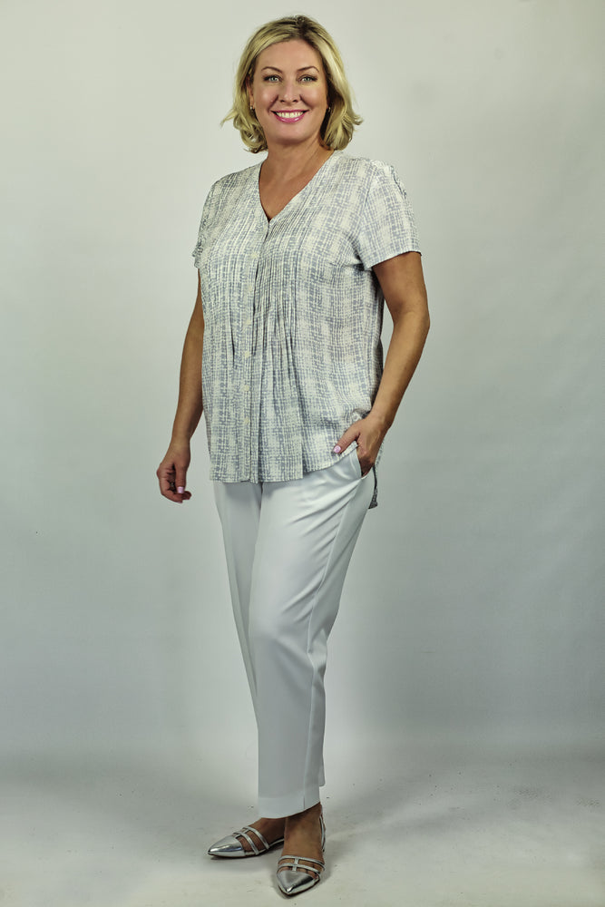 Pleated Front & Back Shirt