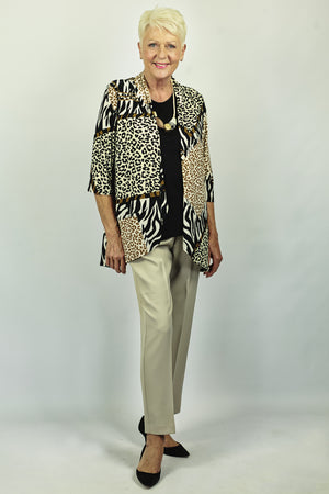 Load image into Gallery viewer, Jersey Jacket Animal Print