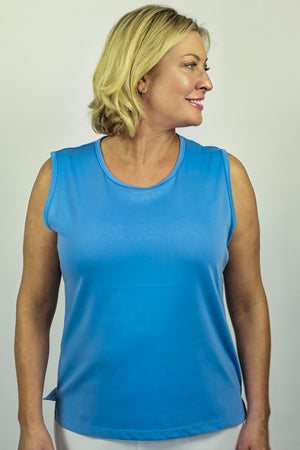 Load image into Gallery viewer, Cotton Blend Camisole - Blue