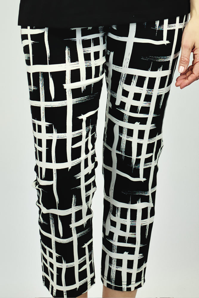 Black & White Printed Pants