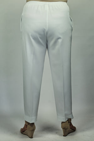 Regular Fit Pants - White Shorter Leg