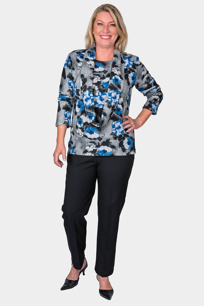 Load image into Gallery viewer, Top with Removable Snood - Floral Design