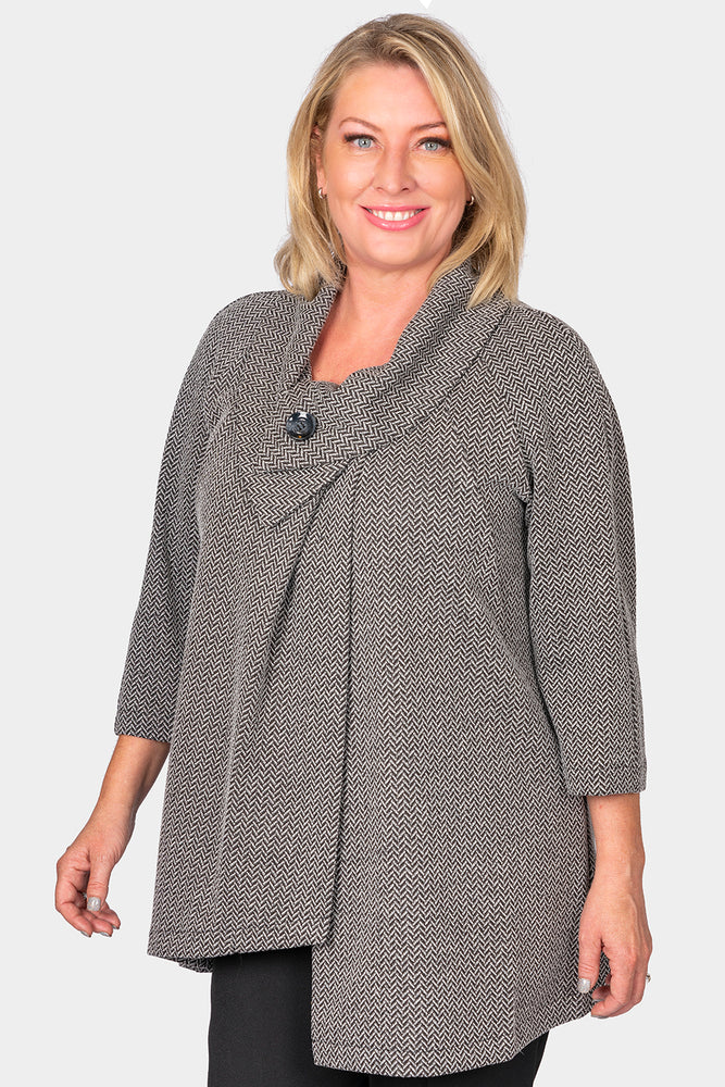 Load image into Gallery viewer, Audrey Collar Herringbone Jacket
