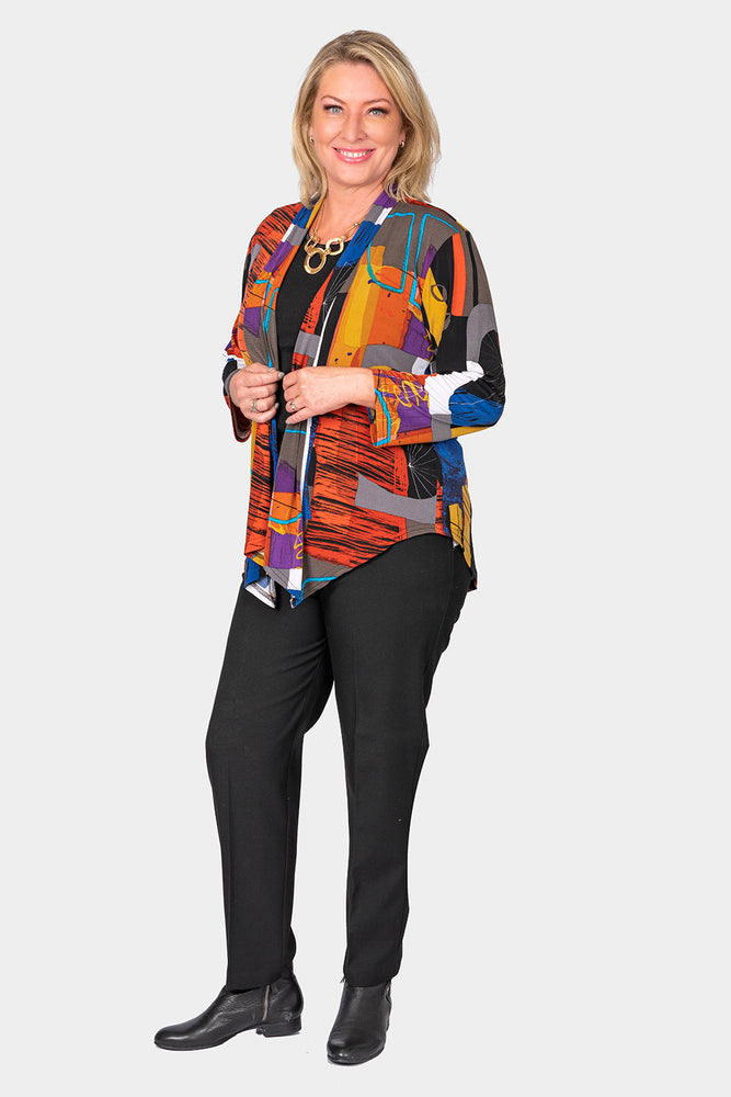 Load image into Gallery viewer, Multi Print Jersey Jacket