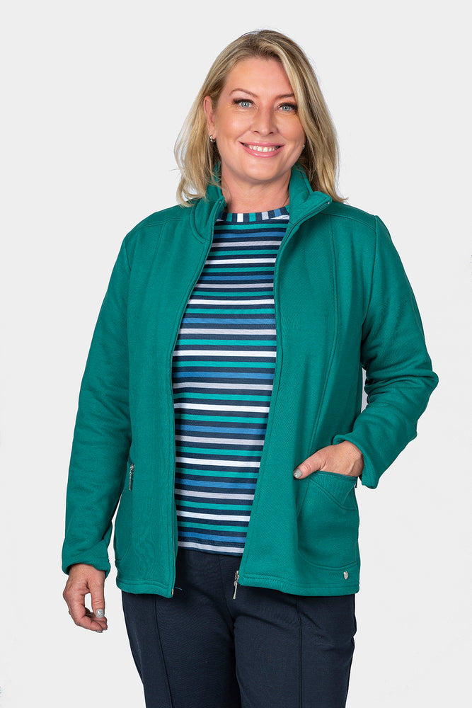Apple Fleece Jacket - Green