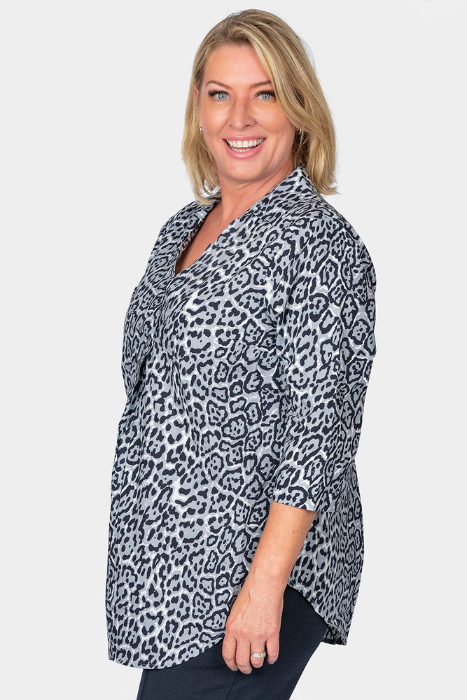 Animal Print Overshirt