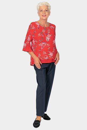 Load image into Gallery viewer, Romantic Sleeve Top - Red