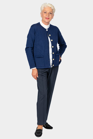 Load image into Gallery viewer, Slade Gold Button Classic Cardigan
