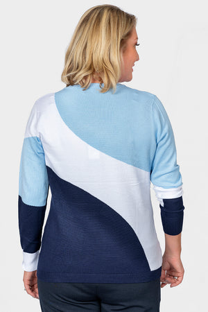 Load image into Gallery viewer, Crew Neck Block Jumper