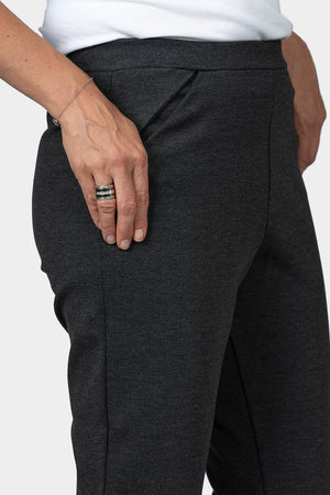 Load image into Gallery viewer, Ponte Pant Slim Leg - Charcoal