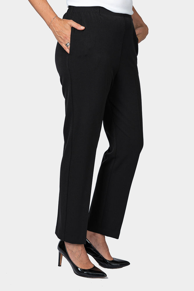 Black Petite Fit Pants - SHORTER LEG