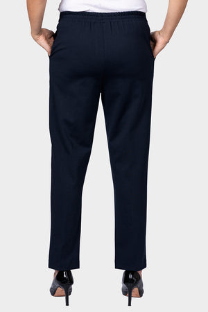 Load image into Gallery viewer, Navy Ponte Pant with Front Leg Seam - SHORTER LEG
