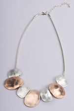Necklace Short 2 Tone Rose Gold & Silver