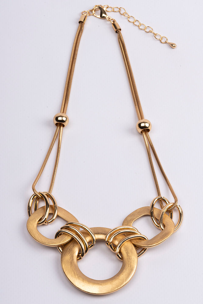 Necklace Short 3 Links Gold