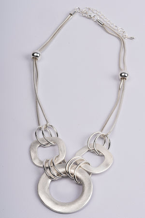 Necklace Short 3 Links Silver