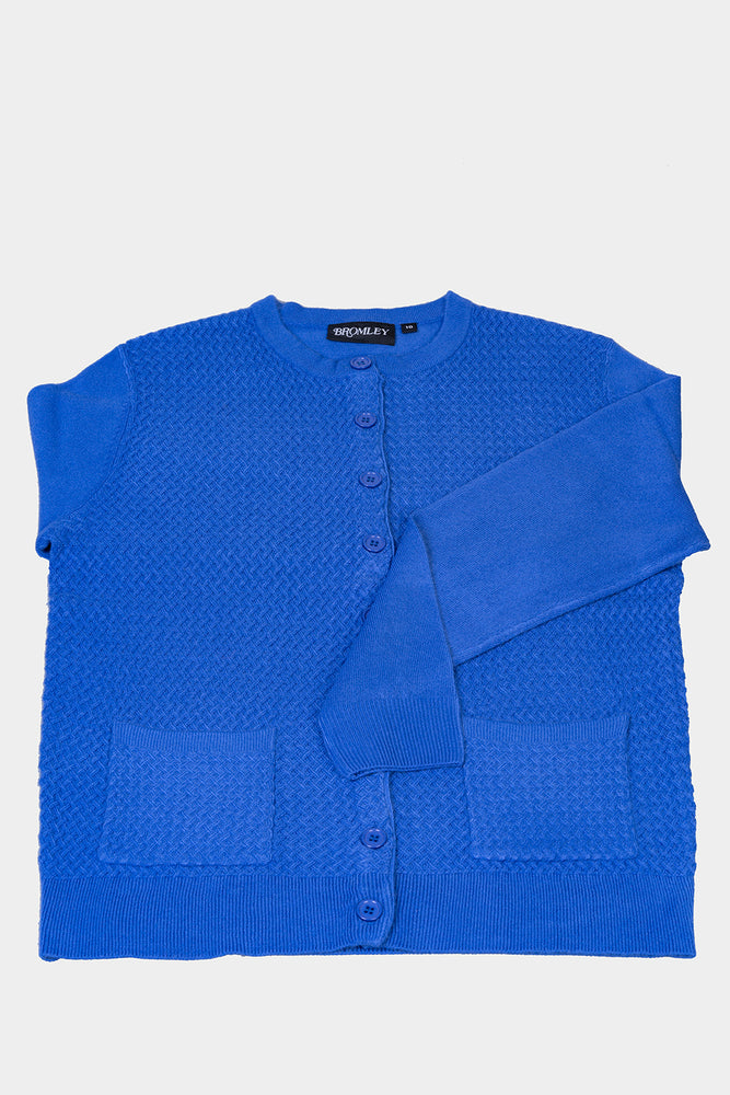 Cable Knit Cardigan - Blue
