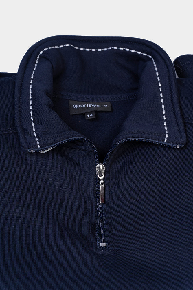 Load image into Gallery viewer, Half Zip Track Jumper