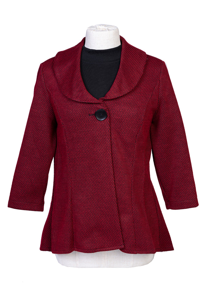 Dip Edge Jacket - Red & Black
