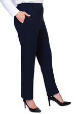 Navy Petite Fit Pants - SHORTER LEG
