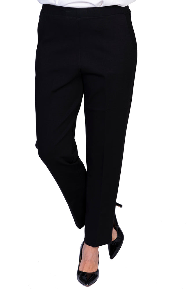 Load image into Gallery viewer, Black Ponte Pant - SHORTER LEG