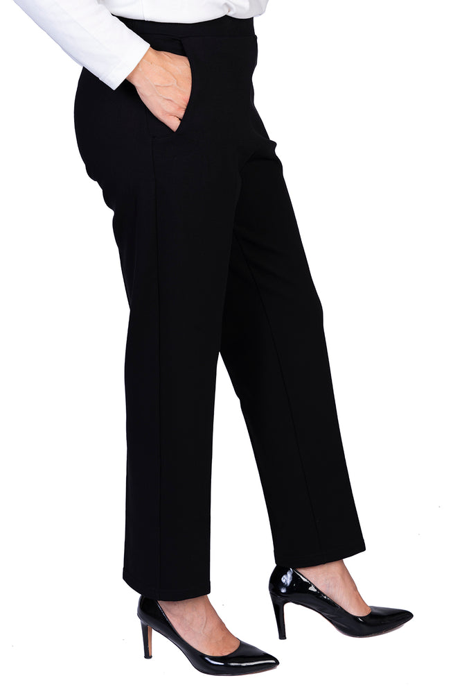 Load image into Gallery viewer, Black Ponte Pant - LONGER LEG