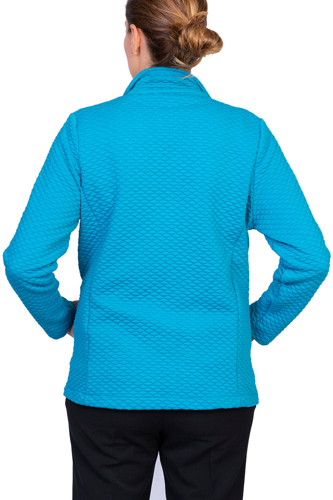 Qulited Zip Jacket - Turquoise