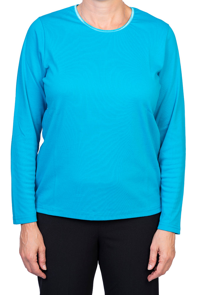Satin Neck Top - Turquoise