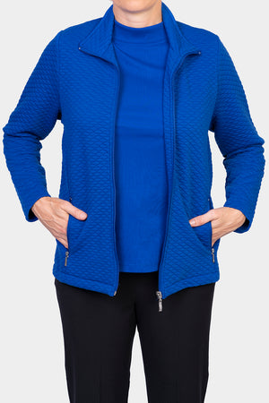 Quilted Zip Jacket - Blue