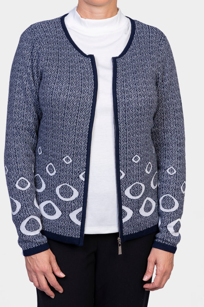 Zip Cardigan - Navy