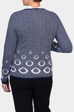 Load image into Gallery viewer, Zip Cardigan - Navy